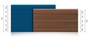 Insulated panels for sectional doors - industrial - ribbed / ribbed