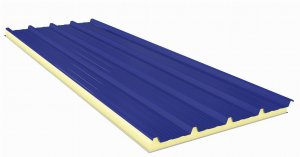 Roof Sandwich panels with PU core G5 50mm