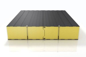 Sandwich panel with polyurethane core for chill rooms 160mm
