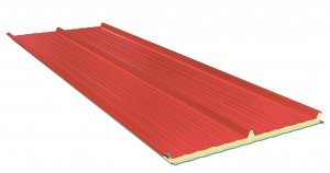Roof Sandwich panels with PU core G3. 50mm