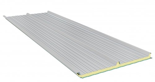 Roof Sandwich panels with PU core G3. 100mm