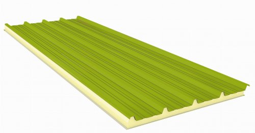 Roof Sandwich panels with PU core G5 80mm