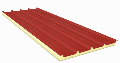 Roof Sandwich panels with PU core G5 60mm
